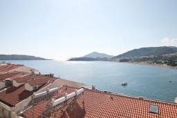 Вид на море. Черногория, Рафаиловичи : Студия с балконом с шикарным видом на море, на берегу моря в Рафаиловичах