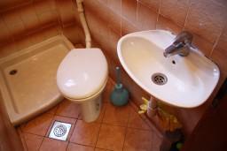 Ванная комната 2. Черногория, Жанице / Мириште : Апартамент для 8 человек с тремя отдельными спальнями, с террасой и видом на сад
