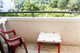 Балкон. Черногория, Петровац : Комната для 2-3 человек, с балконом с видом на море