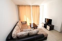 Гостиная. Черногория, Петровац : Современный апартамент для 4-6 человек, 2 спальни, с балконом