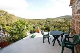 Терраса. Черногория, Росе : Апартамент для 2-3 человек, с отдельной спальней, с террасой с видом на море