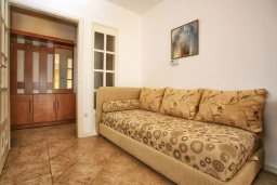 Гостиная. Черногория, Герцег-Нови : Апартамент Кала с видом на море