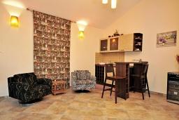 Гостиная. Черногория, Тиват : Прекрасная вилла с зеленым двориком и видом на море, 2 гостиные, 5 спален, 3 ванные комнаты, Wi-Fi