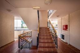 Лестница наверх. Черногория, Бечичи : Апартамент с большой гостиной, тремя спальнями и балконом