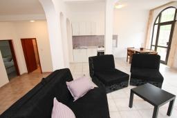 Гостиная. Черногория, Шушань : Апартамент для 5-8 человек, 2 отдельные спальни