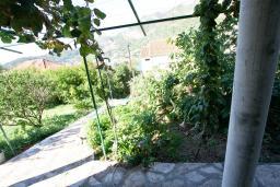 Терраса. Черногория, Лепетане : Большая студия для 2-4 человек, 20 метров до пляжа