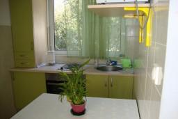 Кухня. Черногория, Лепетане : Апартамент с балконом с видом на море, 20 метров до пляжа