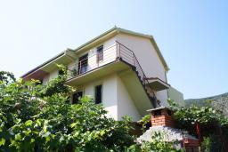 Фасад дома. Черногория, Игало : Дом с 5 отдельными спальнями, с 4 ванными комнатами, с уютным двориком, с летней кухней, с террасой с видом на море, Wi-Fi, кабельное ТВ, мангал, в 30 метрах от пляжа