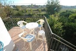 Балкон. Черногория, Велика плажа : Апартамент с отдельной спальней в Велика плажа