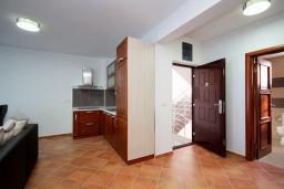 Гостиная. Черногория, Добра Вода : Апартамент для 4-5 человек, с 2-мя отдельными спальнями, с террасой с видом на море, возле пляжа