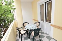 Balcony. Montenegro, Rafailovici : Apartment with 1 bedroom in Rafailovici