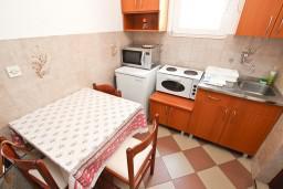 Кухня. Черногория, Петровац : Апартамент на 4 персоны, с 2-мя отдельными спальнями, с балконом