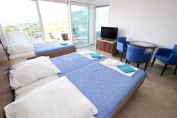 Студия (гостиная+кухня). Черногория, Добра Вода : Студия для 4 человек, с террасой с видом на море