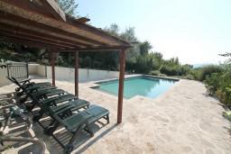 Территория. Черногория, Кавач : 3-х этажный дом в Которе (Кавац) с 2-мя большими гостиными, с 5-ю  спальнями, с 6-ю ванными комнатами, с бассейном, с большим зеленым двориком,  гараж на 2 машины, Wi-Fi