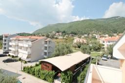 Вид. Черногория, Дженовичи : Апартамент с отдельной спальней, с 2-мя балконами с видом на море