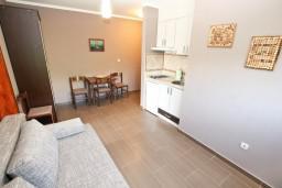 Гостиная. Черногория, Дженовичи : Современный апартамент с отдельной спальней