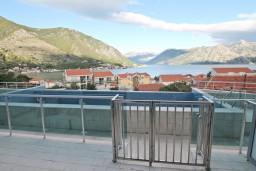 Вид на море. Черногория, Доброта : Современный апартамент с отдельной спальней, с террасой с видом на море