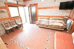 Гостиная. Черногория, Кримовица : 2-х этажный дом в Кримовице с 3-мя отдельными спальнями, с просторной гостиной, с большой террасой, c бассейном, с сауной, с местом для барбекю, окружен лесом, несколько мест для парковки