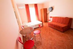 Студия (гостиная+кухня). Черногория, Утеха : Большая вилла в Утехе с 13-ю комнатами с ванными и мини-кухнями и с балконами с видом на море, с бассейном, с большой террасой, с парковкой во дворе, с бесплатным Wi-Fi