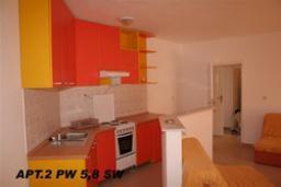 Гостиная. Черногория, Петровац : Апартамент с отдельной спальней и боковым видом на море (№8 APP 03+2)