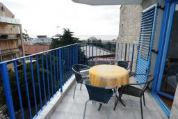 Балкон. Черногория, Петровац : Апартамент с отдельной спальней и видом на море (№6 APP 03/SV)
