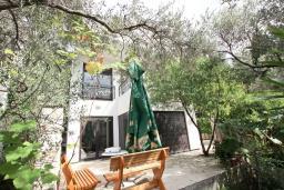 Территория. Черногория, Петровац : Современная вилла с 2-мя просторными гостиными, с 7-ю отдельными спальнями, с 5-ю ванными комнатами, с зеленой территорией, с бетонной террасой с видом на сад, с балконами с видом на море, Wi-Fi