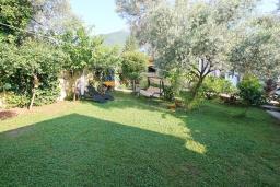 Территория. Черногория, Баошичи : Два дома на первой линии у моря, с зеленым приватным двориком с садовой мебелью и качелями, барбекю. 4 спальни, 3 ванных комнаты, паркинг, Wi-Fi