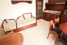 Гостиная. Черногория, Булярица : Большой люкс апартамент для 5-6 человек, с гостиной, с 2-мя отдельными спальнями, с балконом с видом на бассейн
