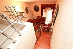 Гостиная. Черногория, Сутоморе : Дуплекс апартамент для 4-5 человек, с большой гостиной и кухней, с 2-мя отдельными спальнями, с 2-мя балконами