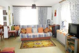 Гостиная. Черногория, Утеха : 2-х этажный дом с большой гостиной, с 3-мя отдельными спальнями, с 2-мя ванными комнатами, с местом для барбекю, со столом для пинг-понга, с садом с фруктовыми деревьями, с диваном-качелями и садовой мебелью, с парковочным местом
