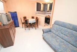 Гостиная. Черногория, Рафаиловичи : Апартамент для 6-8 человек, с 2-мя отдельными спальнями, 70 метров до моря