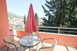 Балкон. Черногория, Игало : Уютная студия для 2-3 человек, с балконом с видом на море
