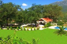 Территория. Черногория, Зеленика : Двухэтажная вилла с бассейном и зеленой территорией, 3 гостиные, 6 спален, 3 ванные комнаты, Wi-Fi