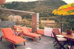 Балкон. Черногория, Пржно / Милочер : Вилла с шикарным видом на море, двумя гостиными, четырьмя спальнями, тремя ванными комнатами, гаражом, Wi-Fi