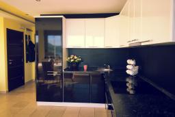 Кухня. Черногория, Пржно / Милочер : Вилла с шикарным видом на море, двумя гостиными, четырьмя спальнями, тремя ванными комнатами, гаражом, Wi-Fi