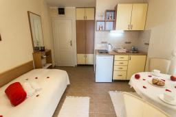 Кухня. Черногория, Герцег-Нови : Люкс апартамент с отдельной спальней, с балконом с шикарным видом на море
