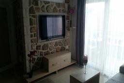 Гостиная. Черногория, Рафаиловичи : Апартамент с отдельной спальней на берегу Рафаиловичей