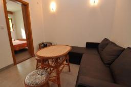 Гостиная. Черногория, Крашичи : Каменный дом на берегу с шикарным видом на море, 3 гостиные, 4 спальни, 4 ванные комнаты, большая терраса
