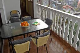 Балкон. Черногория, Сутоморе : Вилла с видом на море в 100 метрах от пляжа, гостиная, три спальни, дворик, место для барбекю, парковка