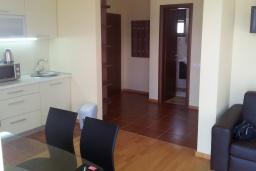 Кухня. Черногория, Зеленика : Апартамент с балконом и видом на море, с гостиной и отдельной спальней