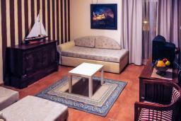 Гостиная. Черногория, Рафаиловичи : Апартамент №14 с отдельной спальней и видом на море (APP 02+2 SV)