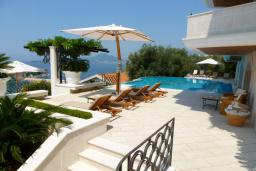 Poolside rest area.  in Sveti Stefan