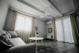 Гостиная. Черногория, Риека Режевичи : Каменный дом с зеленной территорией, 2 спальни, 2 ванные комнаты, парковка, Wi-Fi