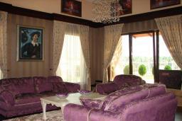 Гостиная. Черногория, Мрчевац : Шикарная вилла с бассейном и зеленым двориком, 4 спальни, сауна, тренажерный зал, барбекю, парковка, Wi-Fi