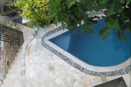 Бассейн. Черногория, Булярица : Прекрасная вилла с бассейном, зеленым двориком и видом на море, 3 спальни, 3 ванные комнаты, парковка, Wi-Fi