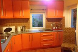 Кухня. Черногория, Столив : Трехэтажный дом в 10 метрах от моря, 3 гостиные, 5 спален, 3 ванные комнаты, зеленый сад, барбекю, парковка, Wi-Fi