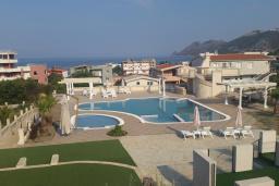 Бассейн. Черногория, Добра Вода : Улучшенная вилла с большой территорией и общим бассейном, 2 спальни, парковка, барбекю, Wi-Fi