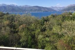 Вид на море. Черногория, Радовичи : Прекрасная вилла с зеленым двориком недалеко от пляжа, 4 спальни, 3 ванные комнаты, барбекю, парковка, Wi-Fi