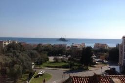 Вид на море. Черногория, Петровац : Апартамент с гостиной, отдельной спальней и балконом с видом на море