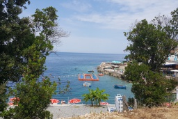 Вид на море. Черногория, Утеха : Прекрасная вилла с бассейном в 30 метрах от пляжа, 3 спальни, 2 ванные комнаты, парковка, Wi-Fi